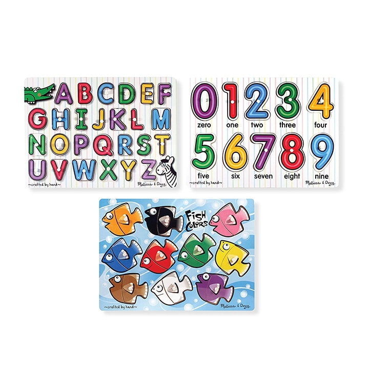 3 set of wooden puzzles for toddler and preschools - great for christmas gifts