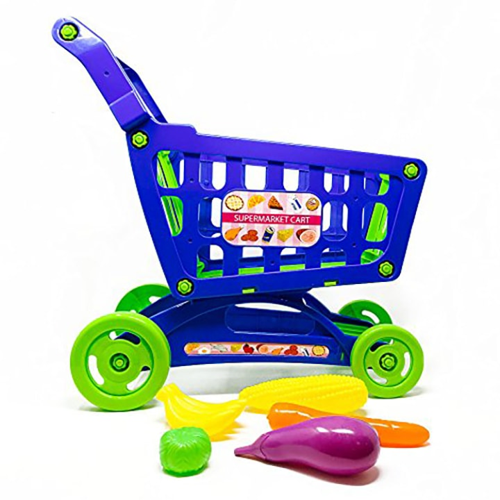 A fun play toy shopping cart for toddler and preschooler.
