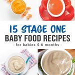 Pinterest collage for a recipe collection of beginner baby food recipes.