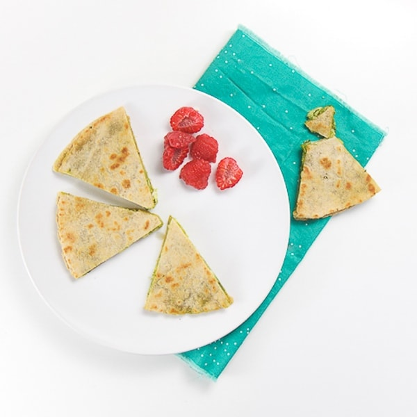 kale quesadilla for baby and toddler