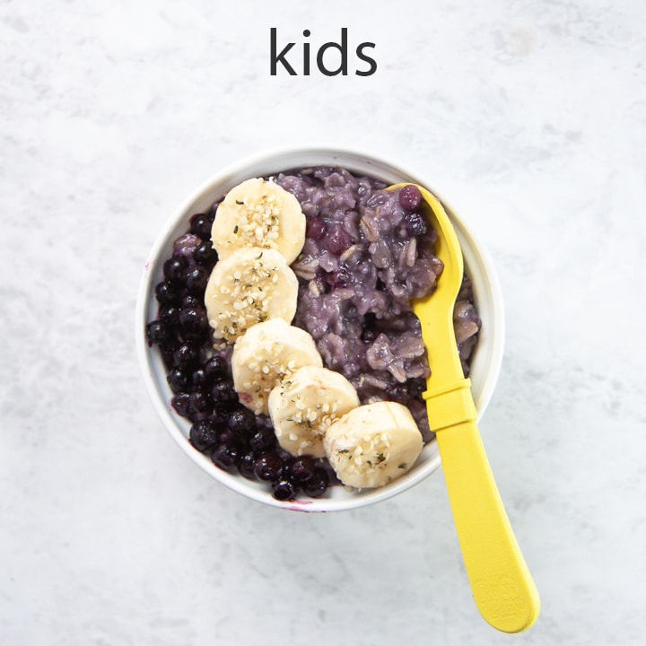 How to serve blueberry oatmeal to kids
