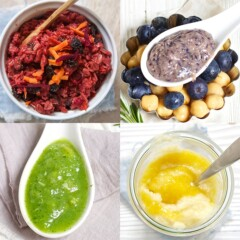 Stage 3 baby food recipes images in a grid.
