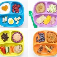 grid of photos of healthy lunches for toddlers.