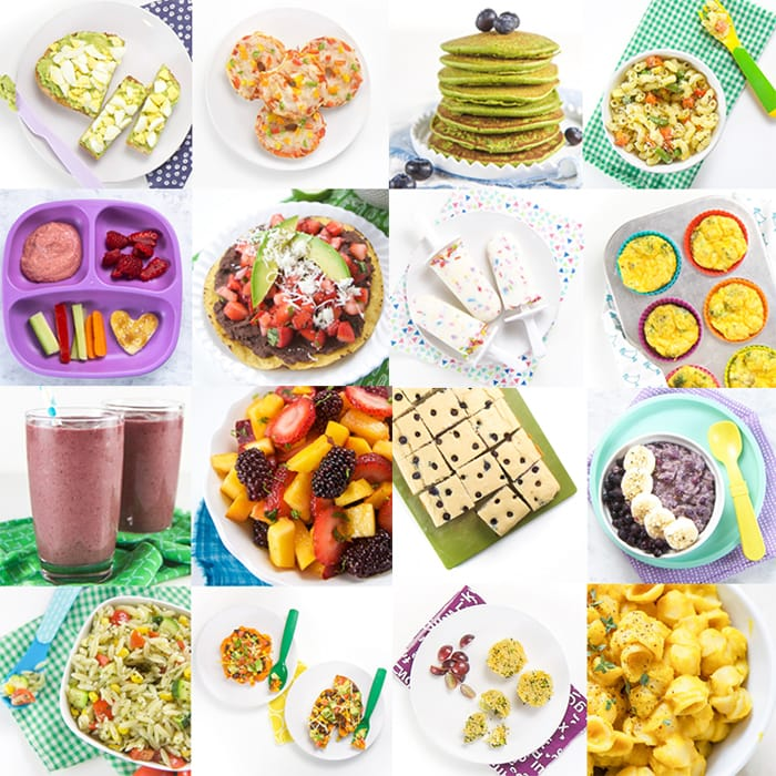 grid of images of toddler meals