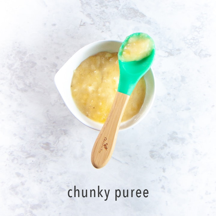 chunky baby food puree