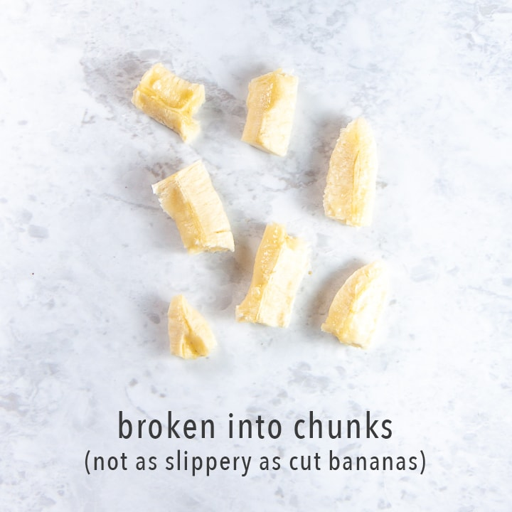 banana broken into chunks