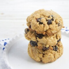 easy oatmeal blueberry cookies for toddler