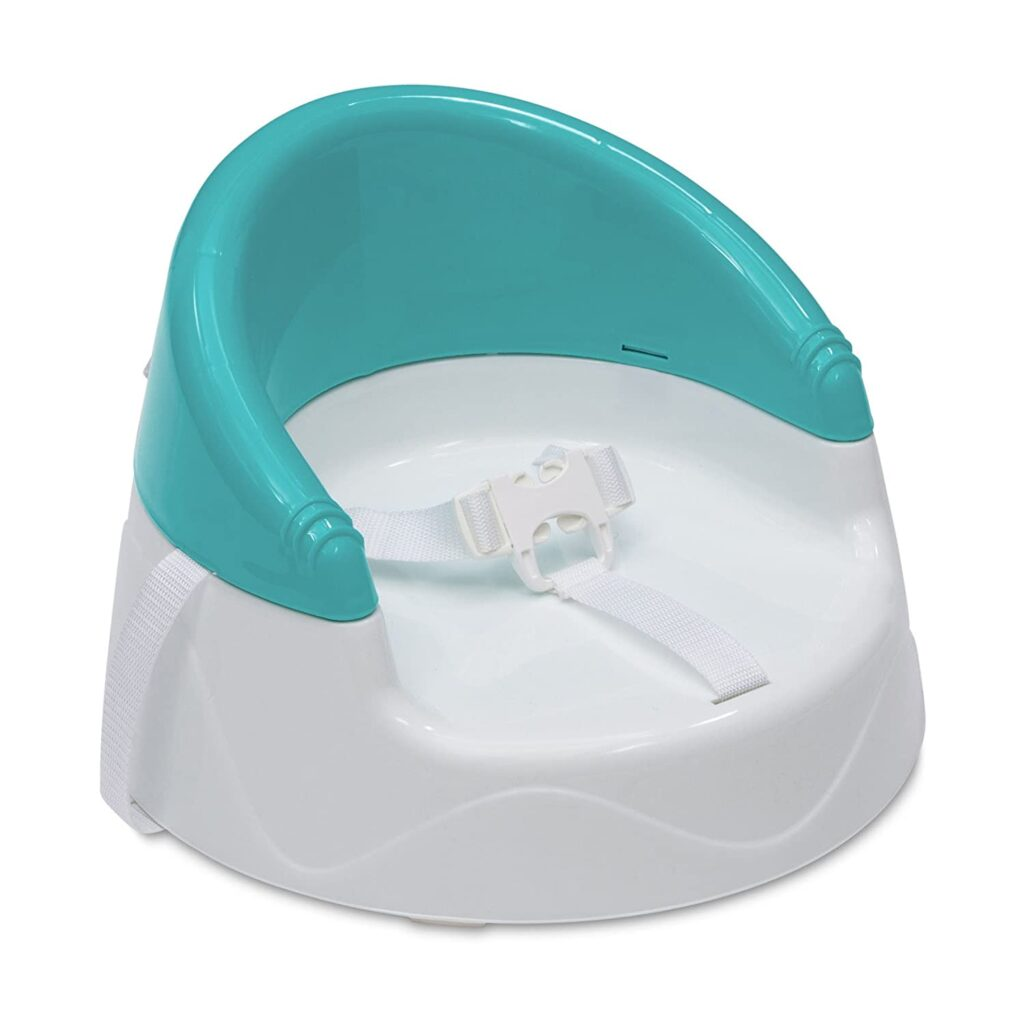 teal and white booster seat for toddler and kids