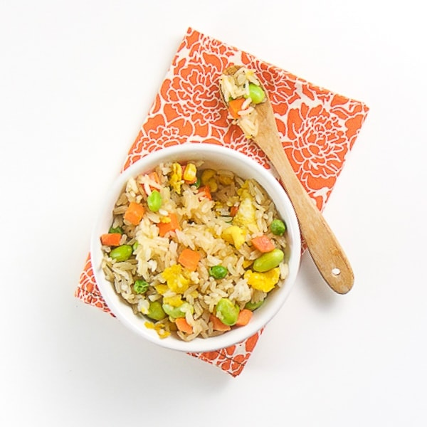 healthy fried rice for toddler - great for dinner or lunch