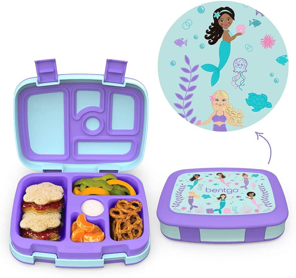 toddler lunch box with mermaid on it.
