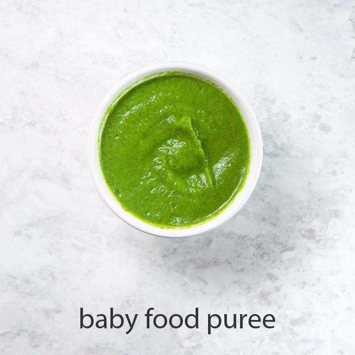 babies best first food - broccoli puree