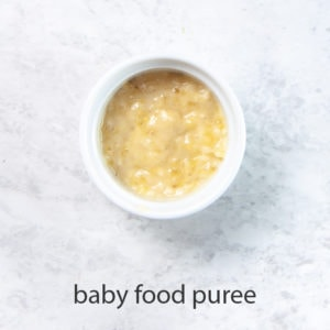 Banana puree for baby - best first food puree.
