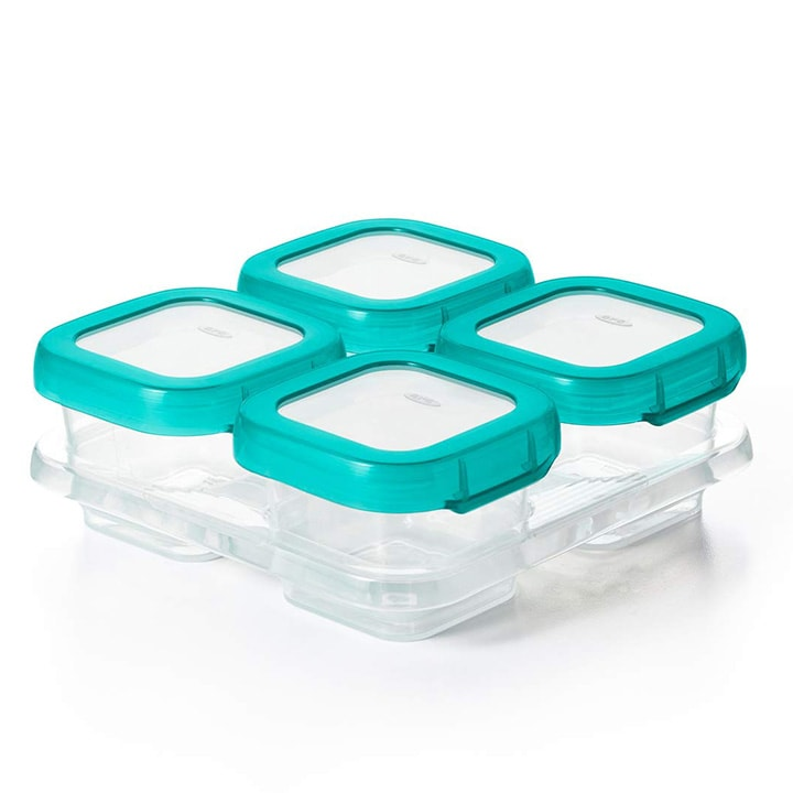 Set of baby storage containers.