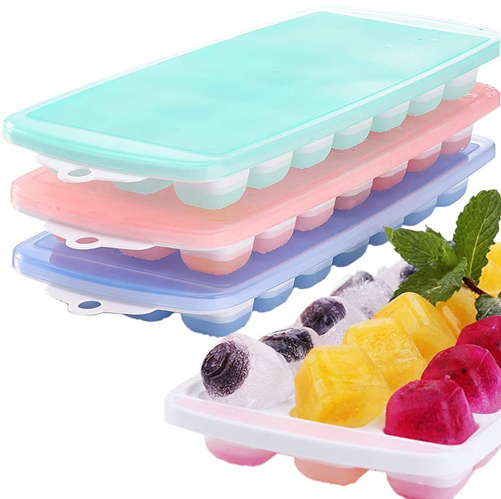3 pack of trays to store homemade baby food in.