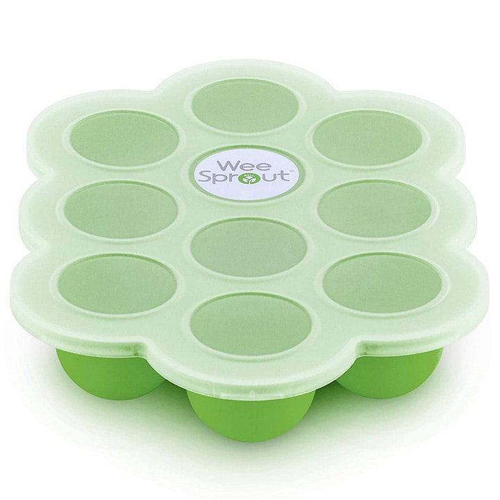 silicon tray for storing baby food purees.