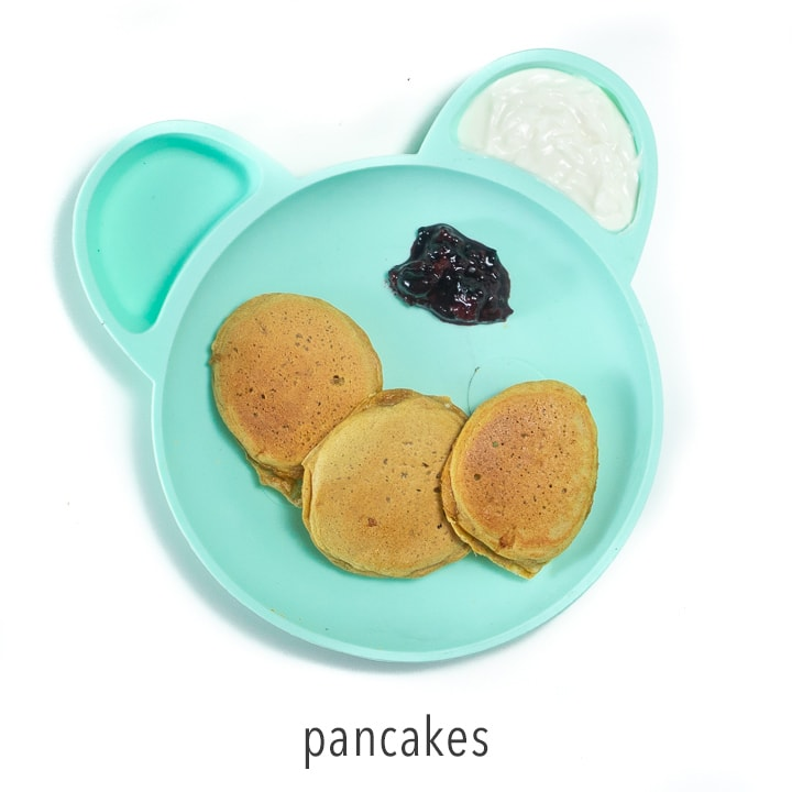 Sweet potato pancake for baby-led weaning.