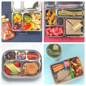 grid of lunches for preschooler or kindergartner.