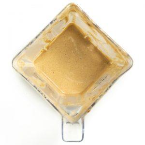 Blender full of a heathy Carmel sauce for apple nachos.
