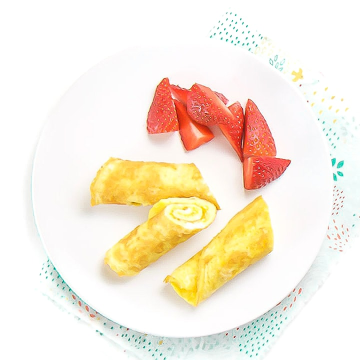 Egg roll ups for baby and toddlers.