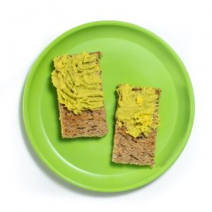 avocado and egg mashed and served on a toast or baby-led weaning.