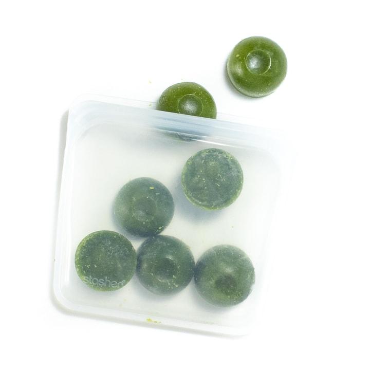 Frozen green bean puree