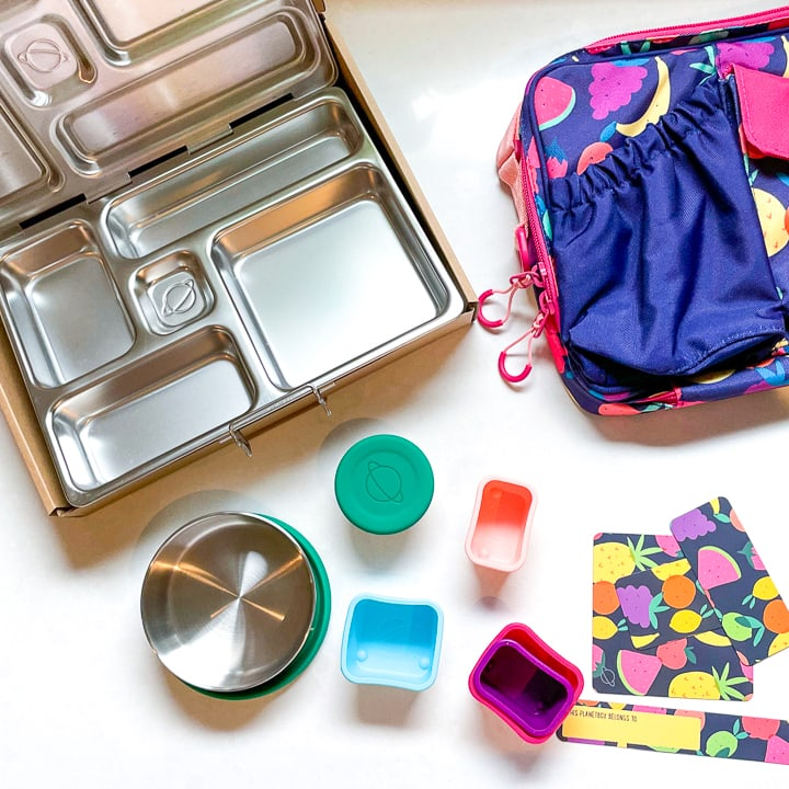 Spread of a planetbox and the accessories that go with it.