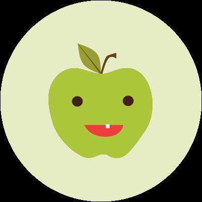 Cartoon Green Apple Icon