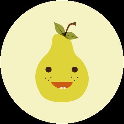 Cartoon Pear Icon
