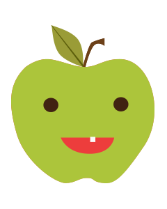 Cartoon apple illustration